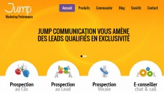 Capture d'écran du site jump-communication.com