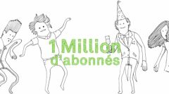 Visuel Spotify fêtant le million d'abonnés