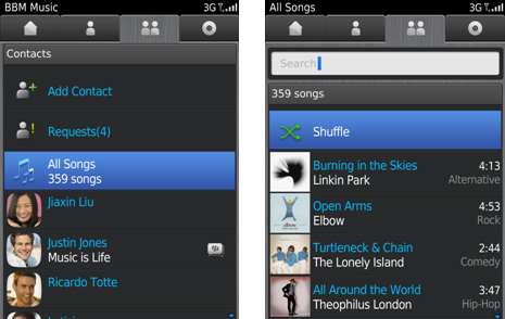Interface BBM Music